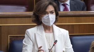 Carmen Calvo, vicepresidenta del Gobierno de España