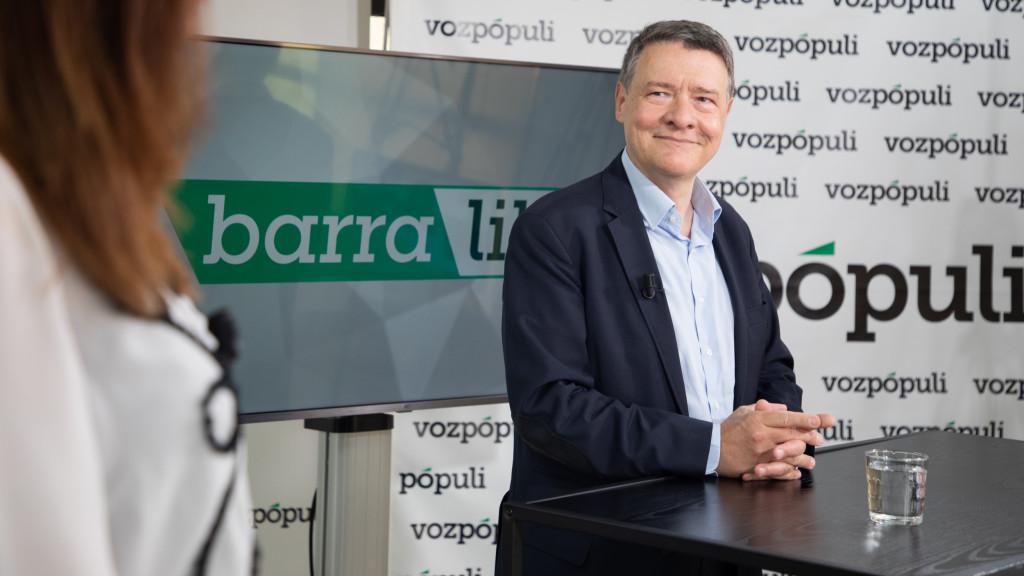 Jordi Sevilla en la entrevista con Vozpópuli.