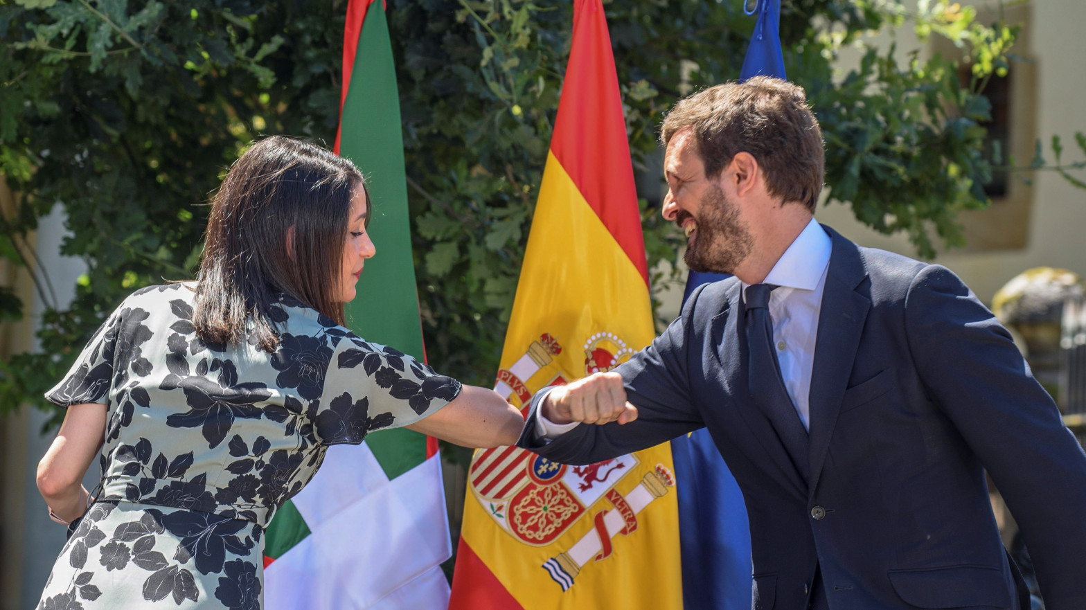 Inés Arrimadas y Pablo Casado.