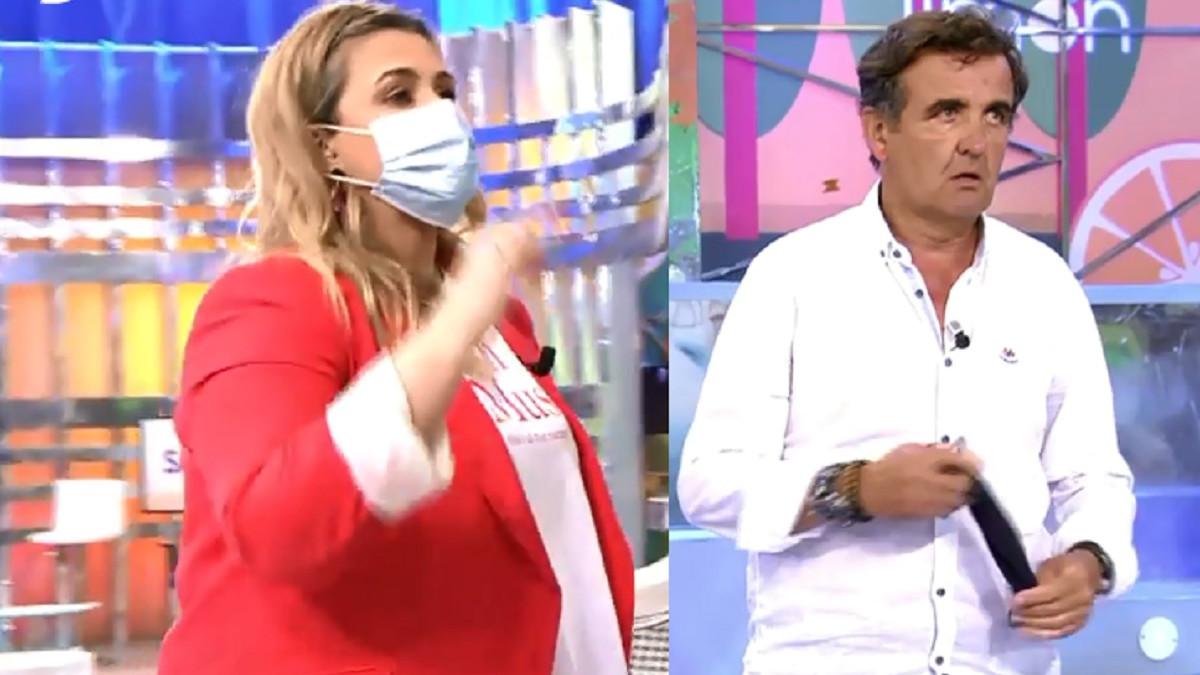 Carlota Corredera y Antonio Montero se enfrentan y este acaba abandonando el plató