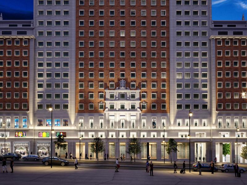 Inditex aterrizará en el Edificio España de Madrid con 9.000 metros cuadrados de Zara, Zara Home y Stradivarius