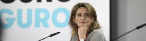 La vicepresidenta cuarta y ministra de Transición Ecológica y Reto Demográfico, Teresa Ribera; comparece en rueda de prensa posterior al Consejo de Ministros