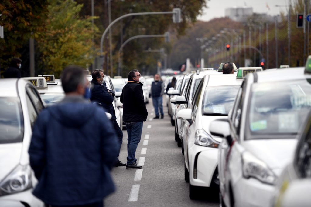 Marcha de taxistas en Madrid. Óscar Cañas