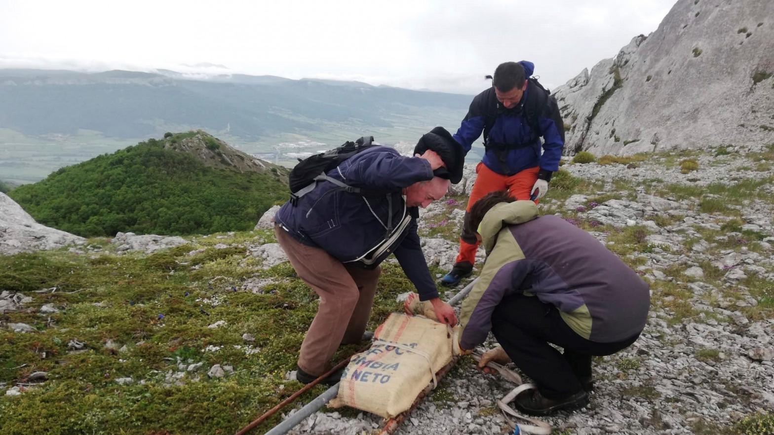 Encuentran una escultura de Néstor Basterretxea que desapareció hace 20 años