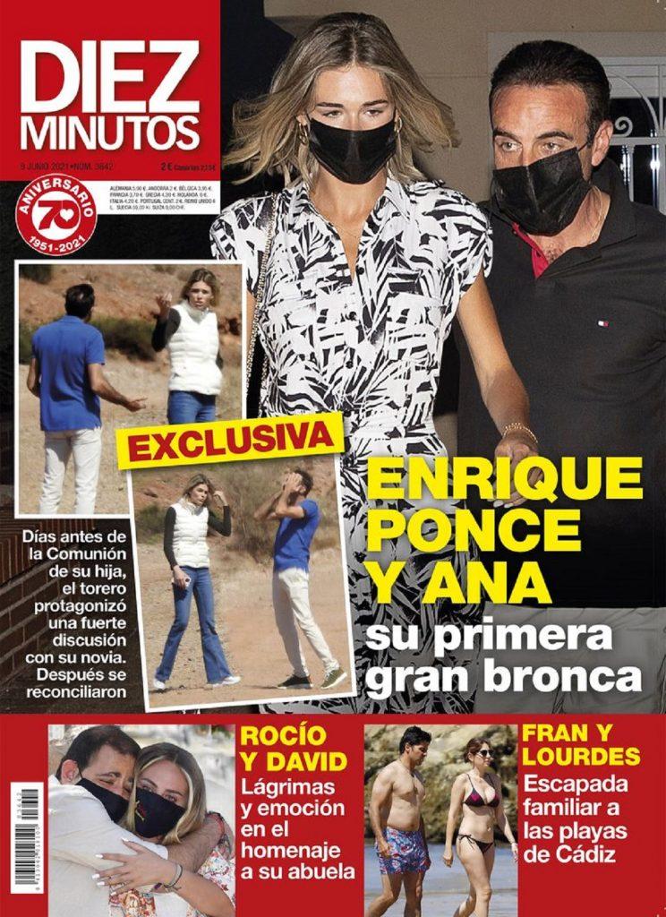 Enrique Ponce y Ana Soria protagonizan una gran bronca