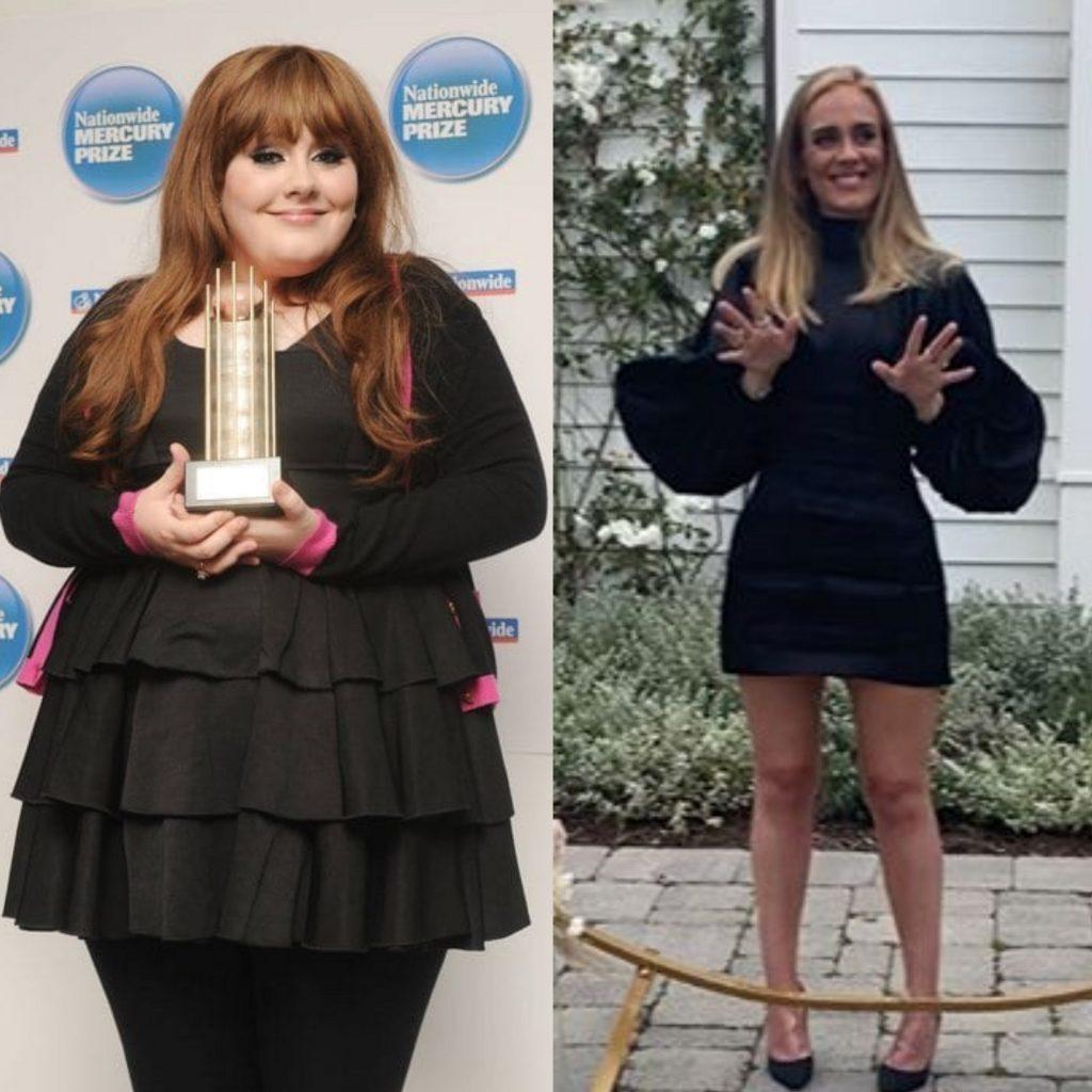 El antes y el después de Adele
