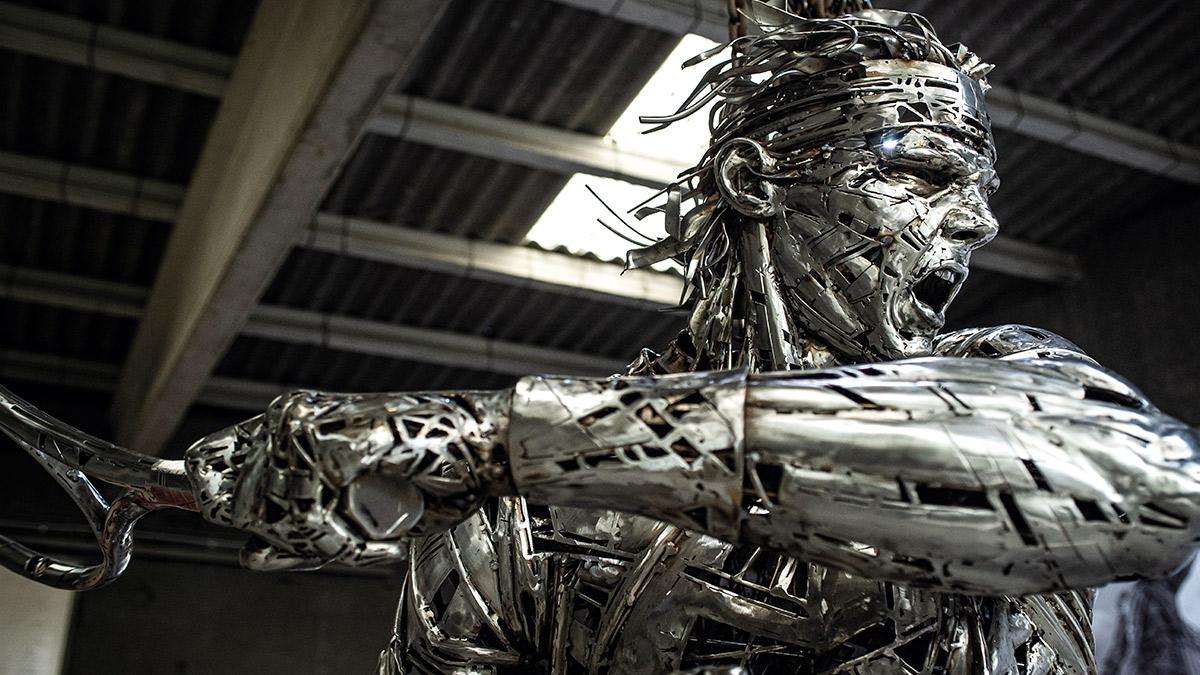 Construyendo a Rafa Nadal: así creó Jordi Díez la escultura del tenista en Roland Garros