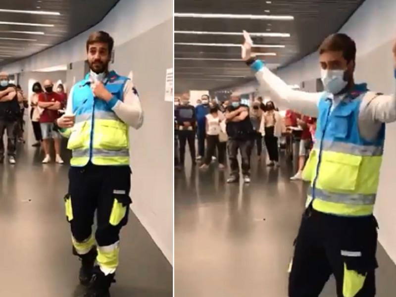 Se hace viral el divertido monólogo de un sanitario en el Wanda Metropolitano