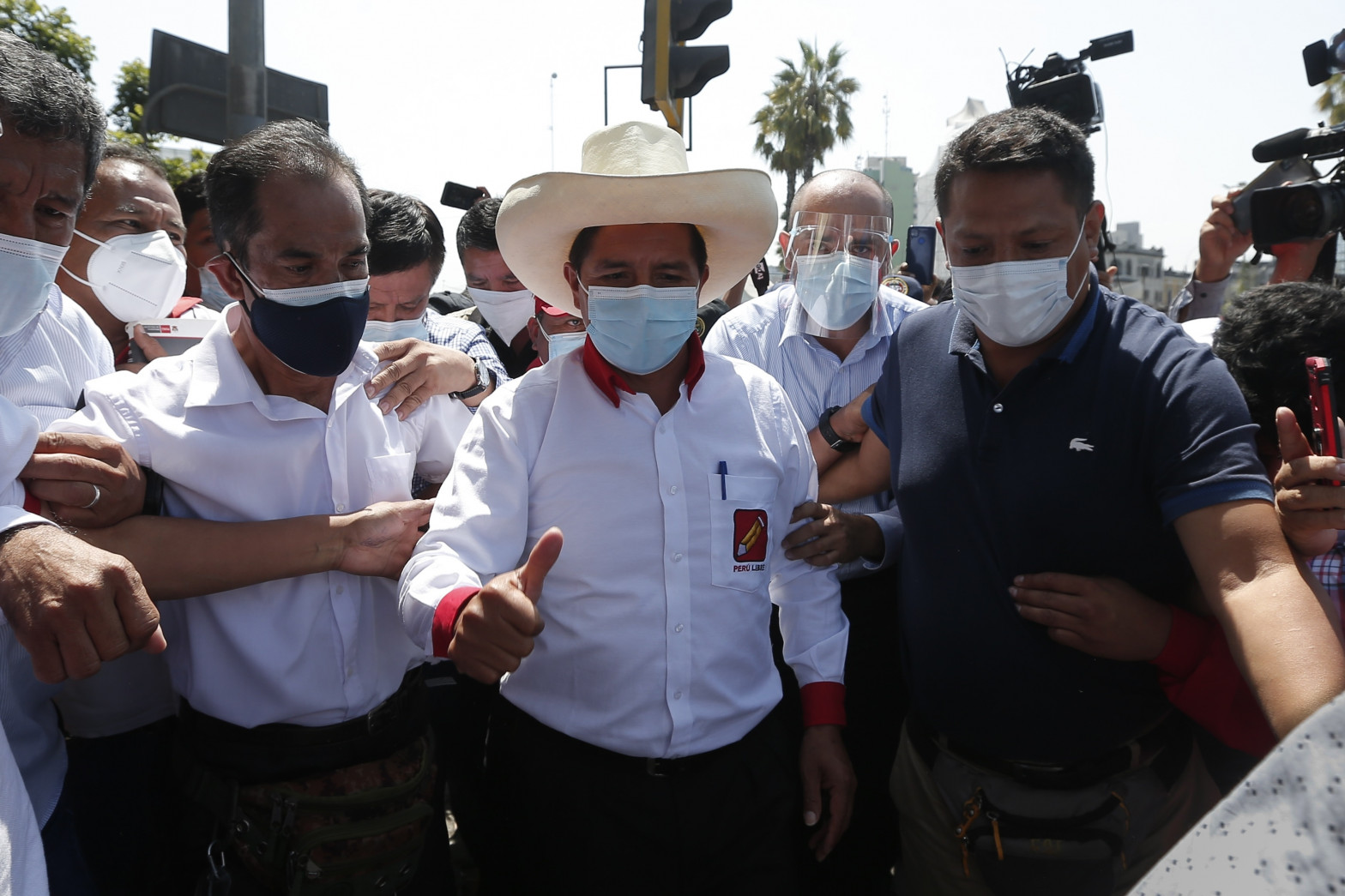 El candidato presidencial por Perú Libre, Pedro Castillo.