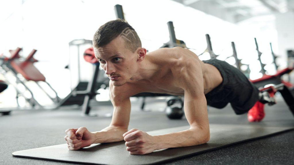 deporte flexiones ejercicio musculos