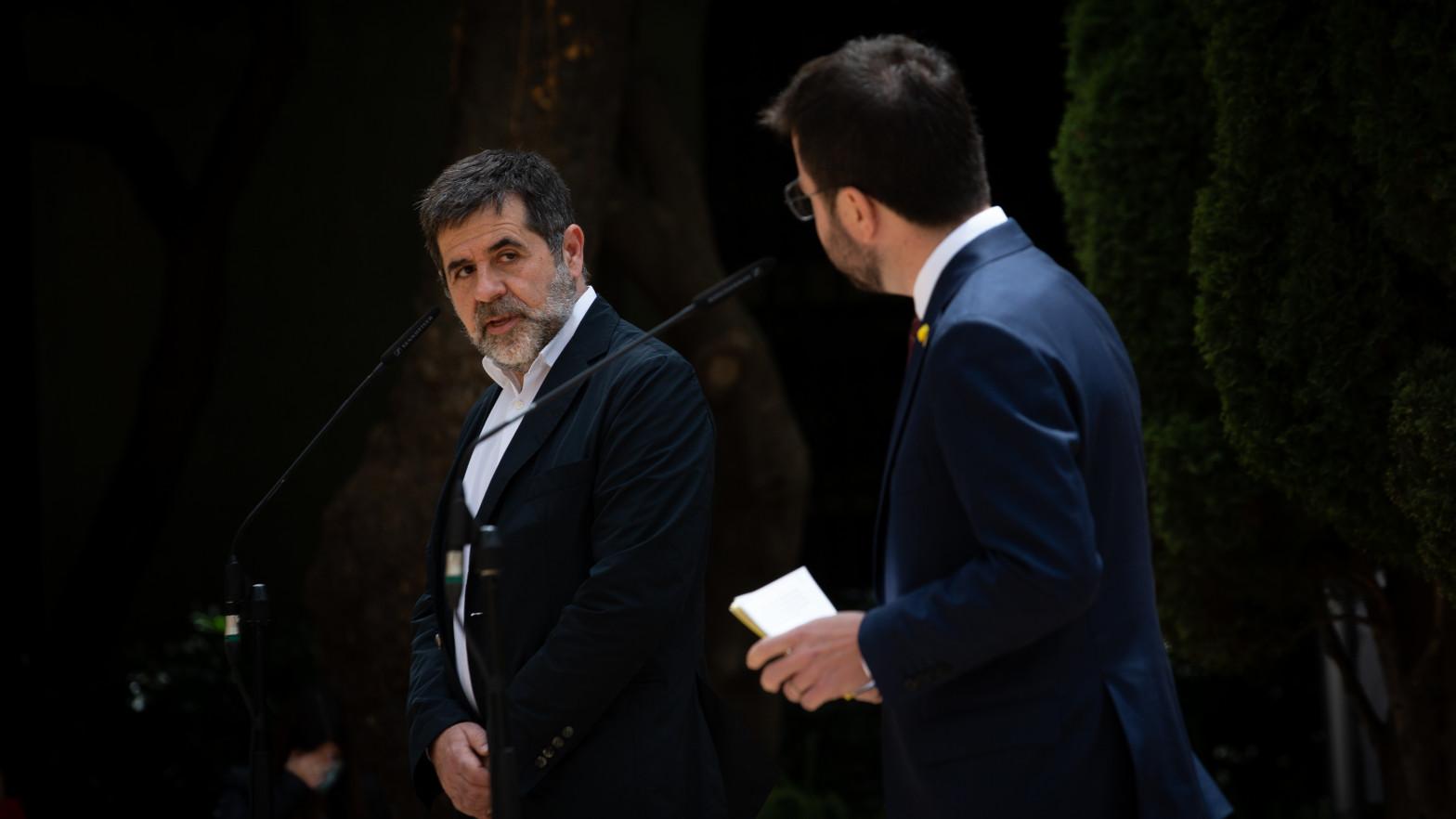"""Jordi Sànchez acusa a Junqueras de tutelar a Aragonès y critica el """"giro de guion"""" de ERC"""