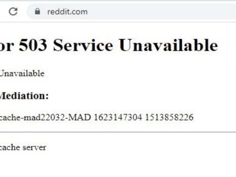 Mensaje de error en Internet.