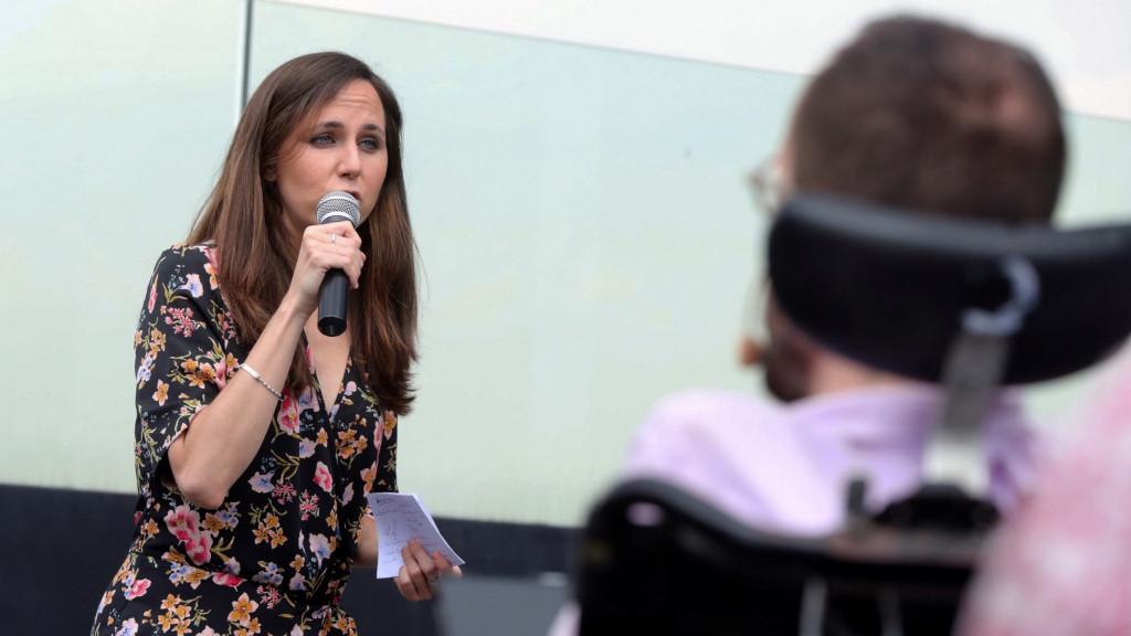 La candidata a la Secretaría General de Podemos, Ione Belarra.