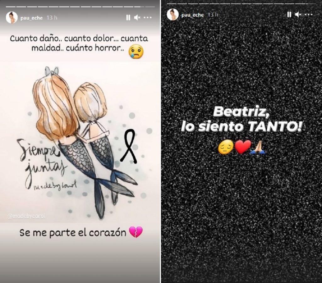 Paula Echevarría comparte un mensaje de apoyo a Beatriz, la madre de las niñas desaparecidas