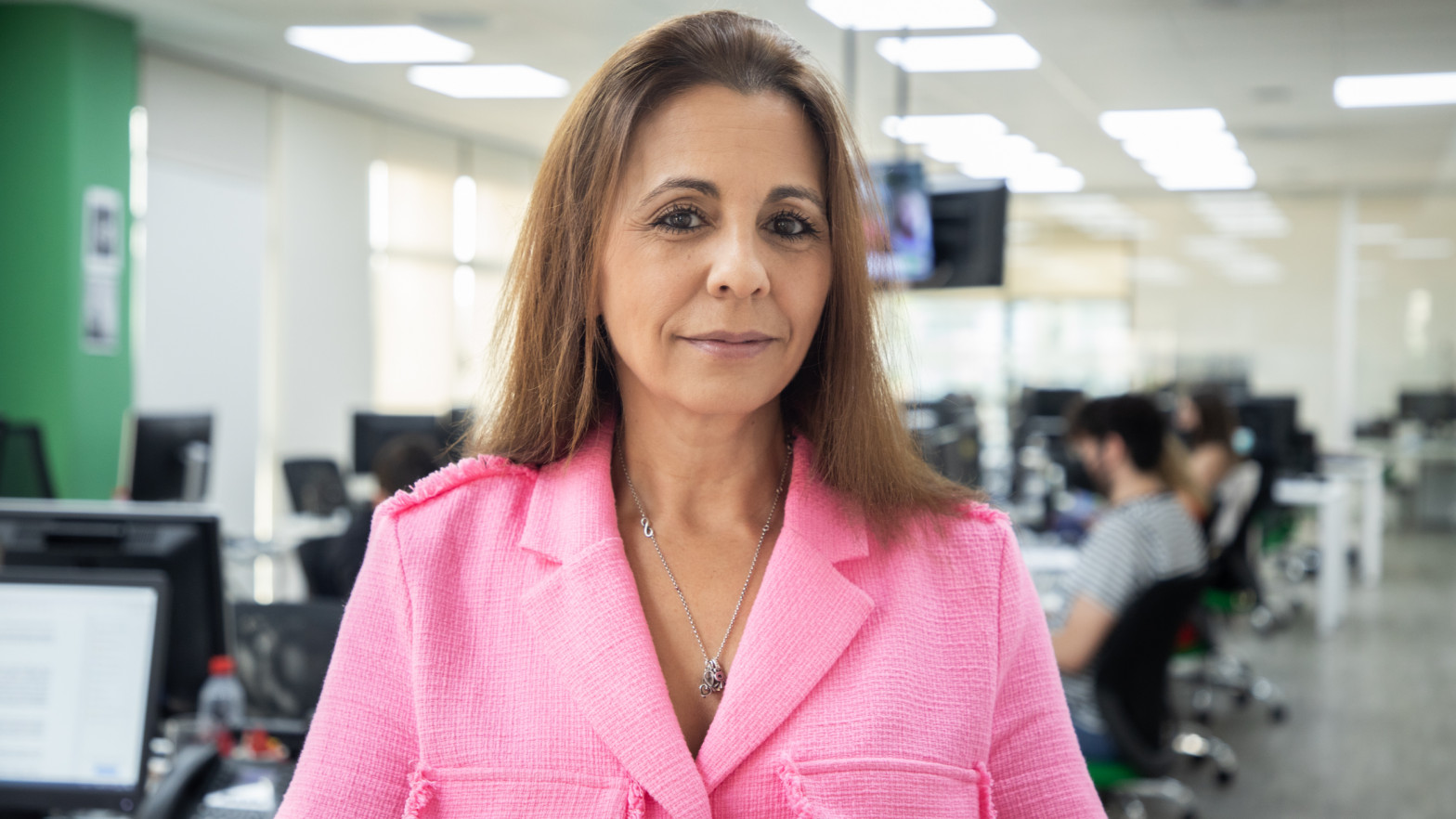 Sonia Aparicio en la redacción de Vozpópuli.