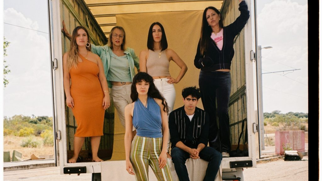 Clara Sans, Ana Telenti, Juani Ruiz, Alberto San Juan, Diego Ibáñez y Yolanda Ramos, en 'Cardo'