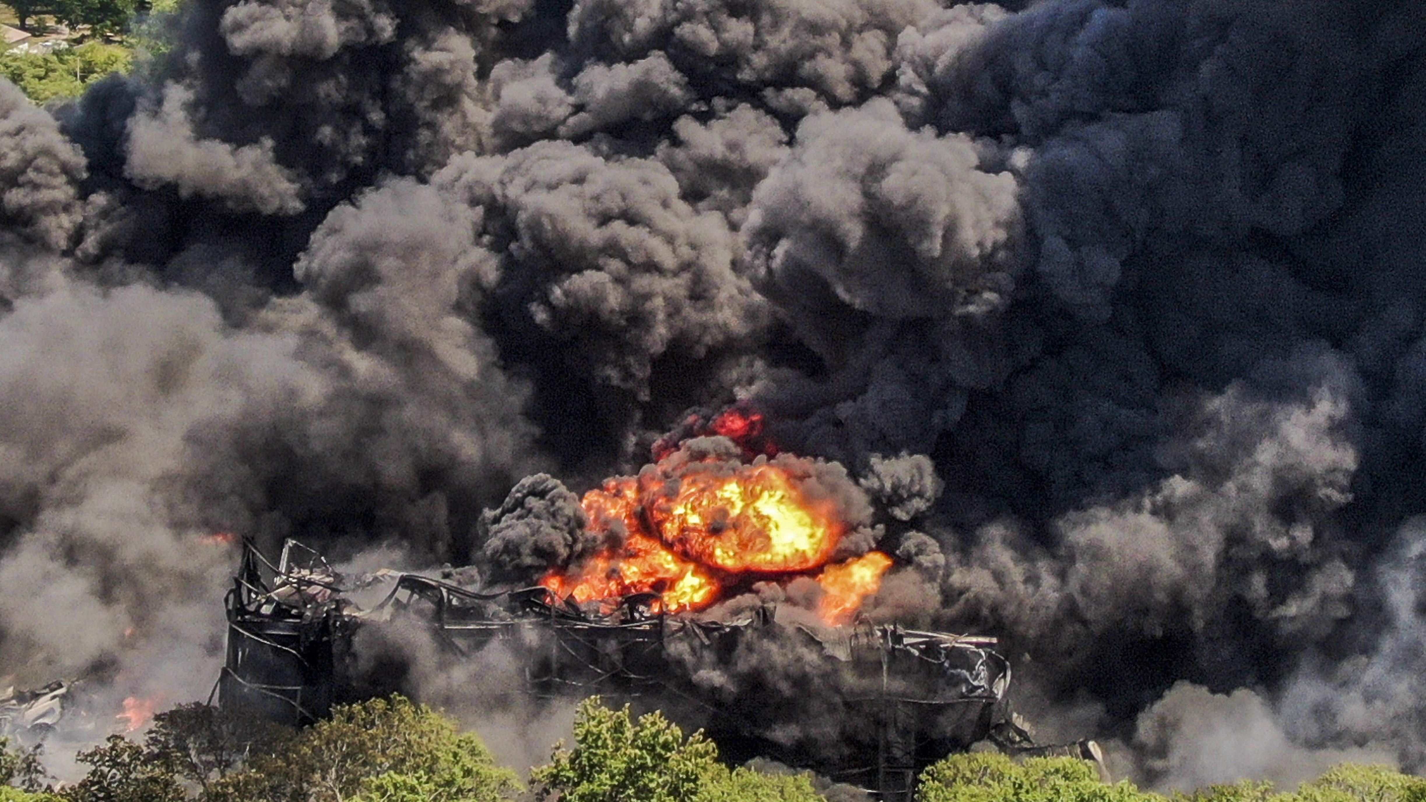 Explosión en Rockton (Illinois, EEUU).