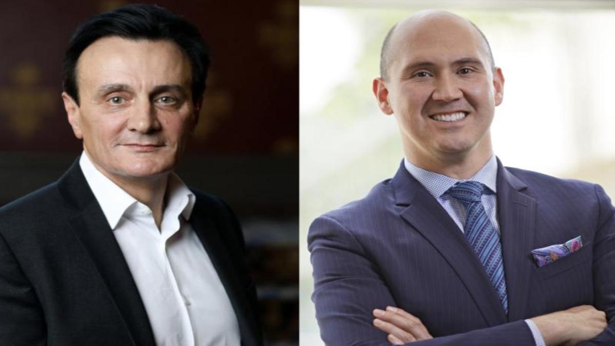 Pascal Soriot, CEO de AstraZeneca, y Ricardo R. Suárez, presidente de AstraZeneca España