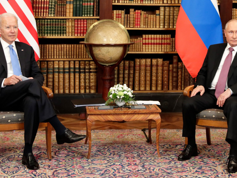 Joe Biden y Vladimir Putin.