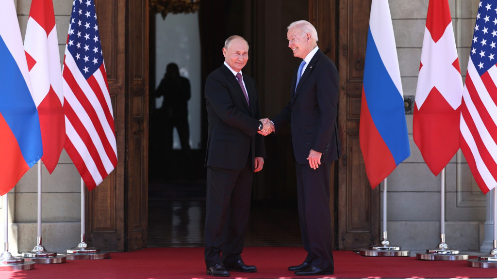 Joe Biden y Vladímir Putin.