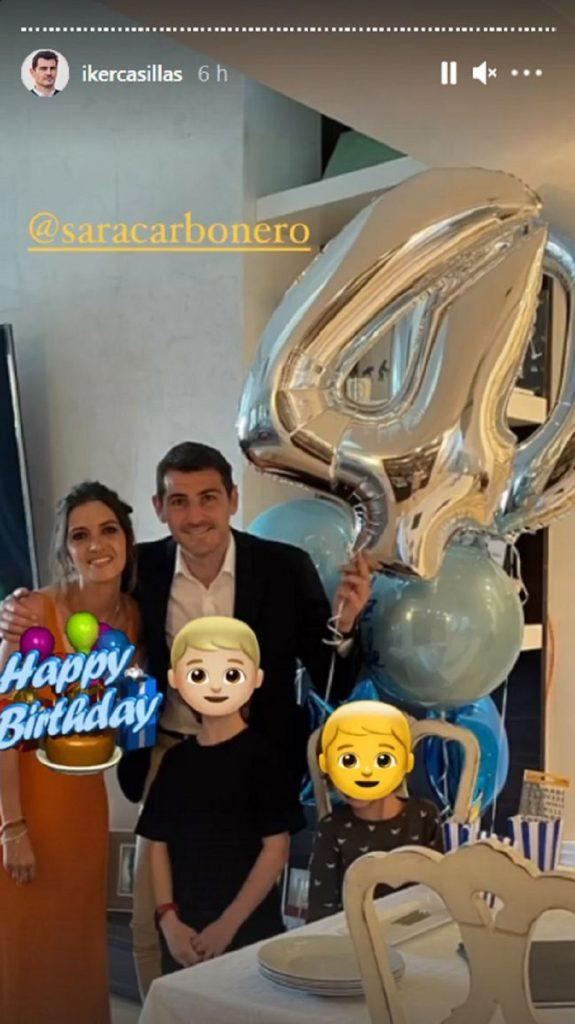 Iker Casillas celebra su 40 cumpleaños con Sara Carbonero y sus dos hijos