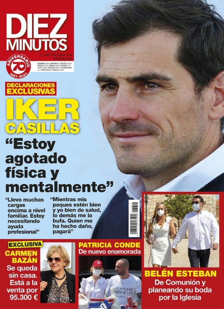 Iker Casillas habla en la revista Diez Minutos