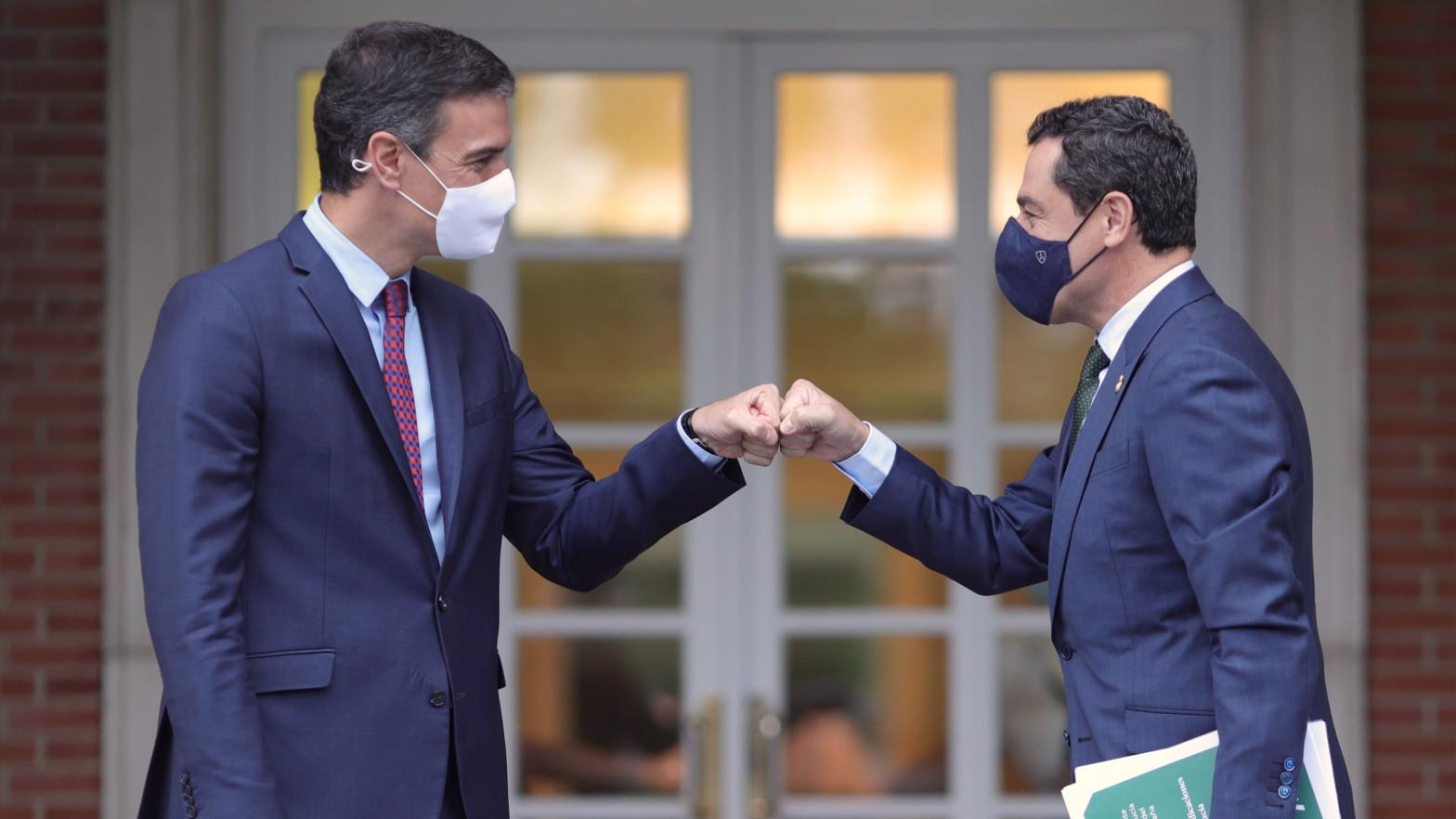 """Moreno traslada a Sánchez que no adelantará elecciones en Andalucía """"salvo que me sienta acorralado"""""""