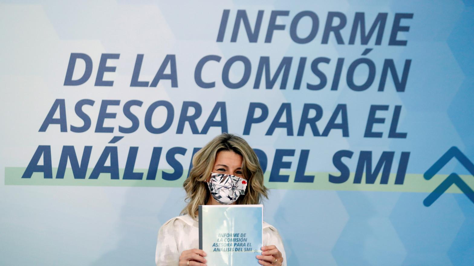 Los expertos de Yolanda Díaz piden subir el SMI hasta los 962-969 euros en 2021
