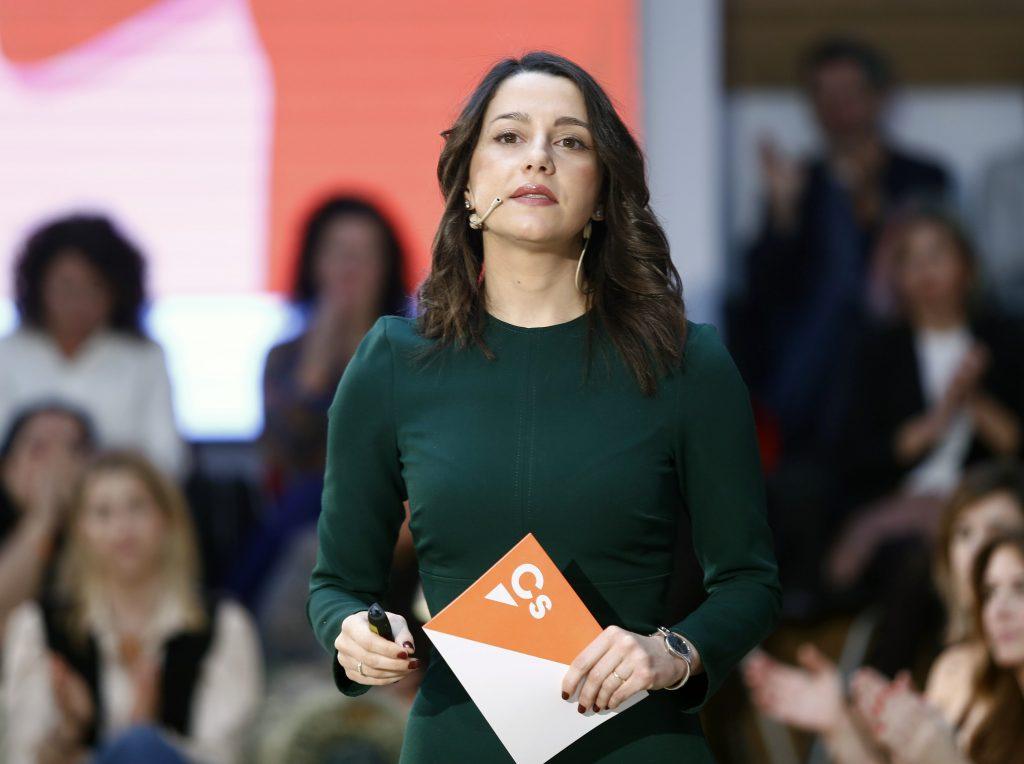 La líder de Ciudadanos, Inés Arrimadas, seguiría cayendo en unas elecciones, según el CIS.