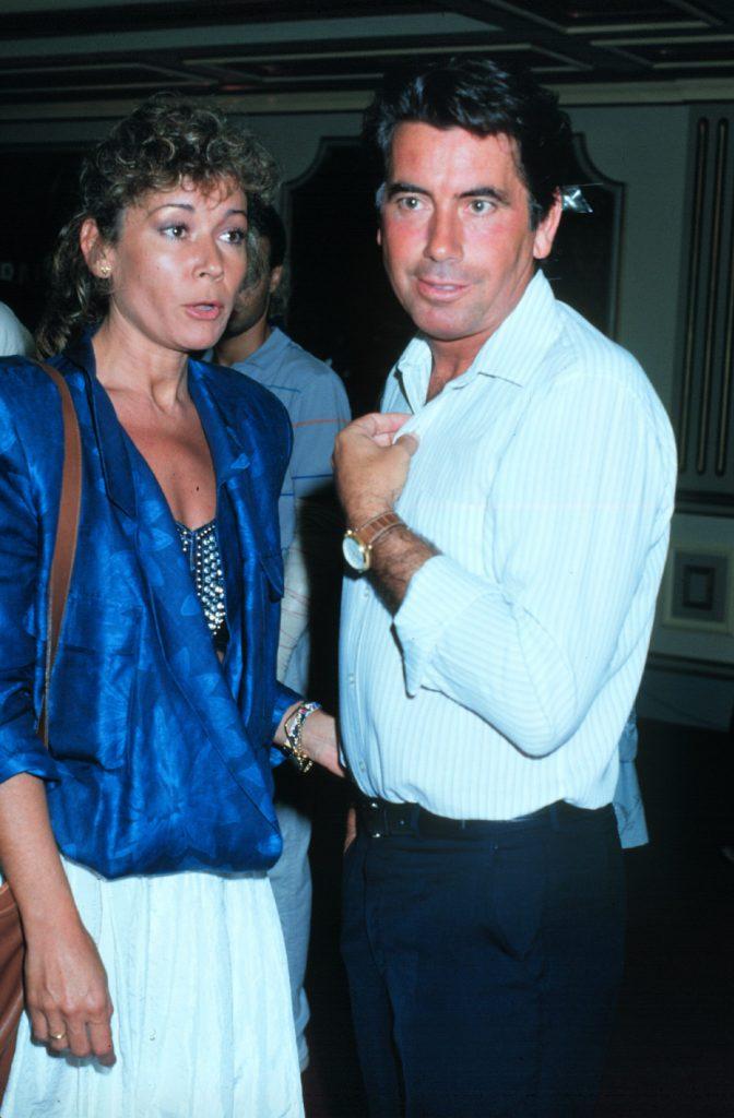 Mila Ximénez y el que era su marido, el tenista Manolo Santana