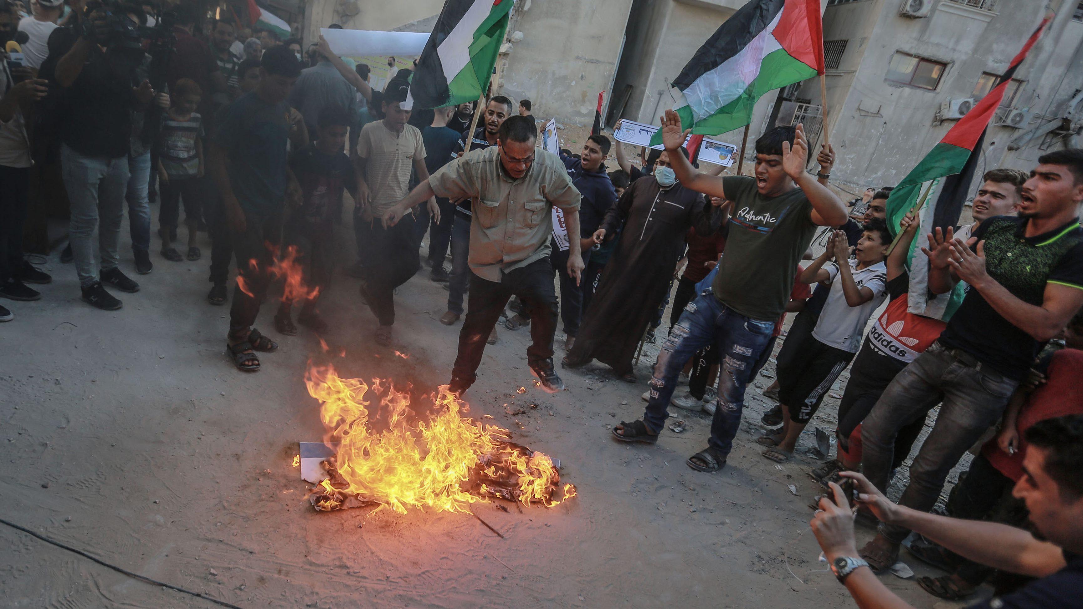 Protestas contra Israel en Gaza.
