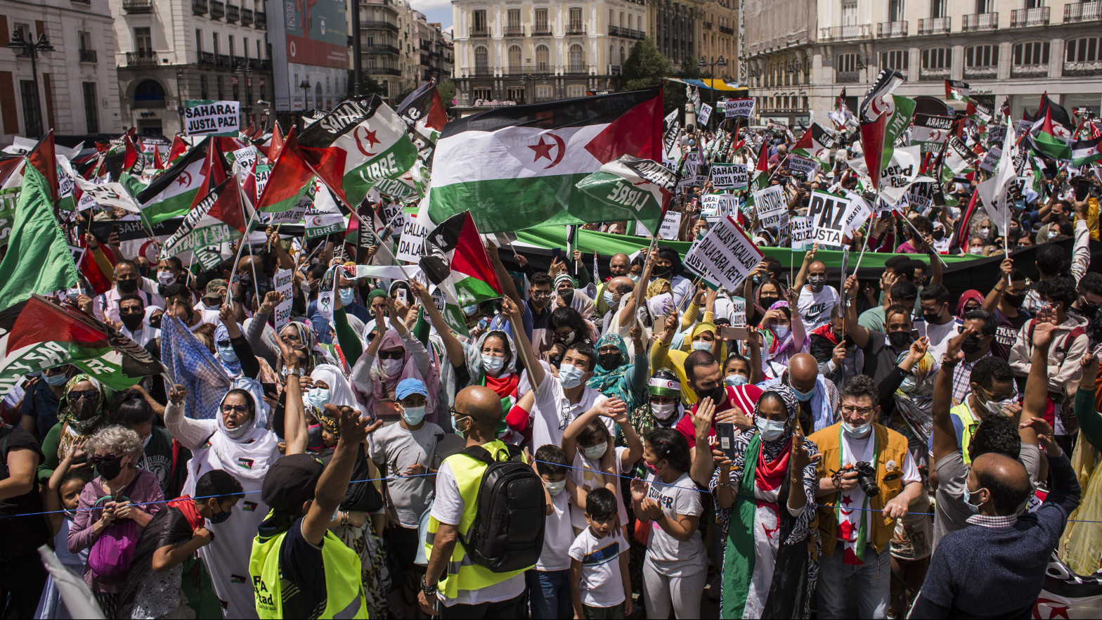 Saharauis de toda España se reúnen en Madrid para protestar contra la represión marroquí
