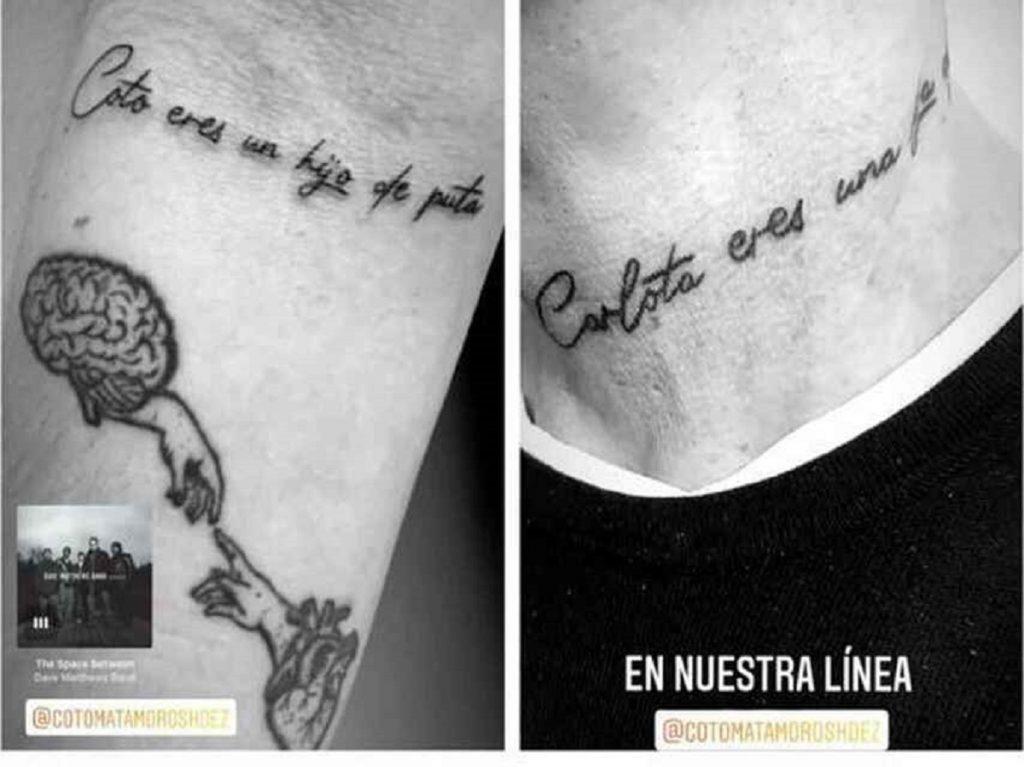 Carlota Prado y Coto Matamoros se hacen el mismo tatuaje