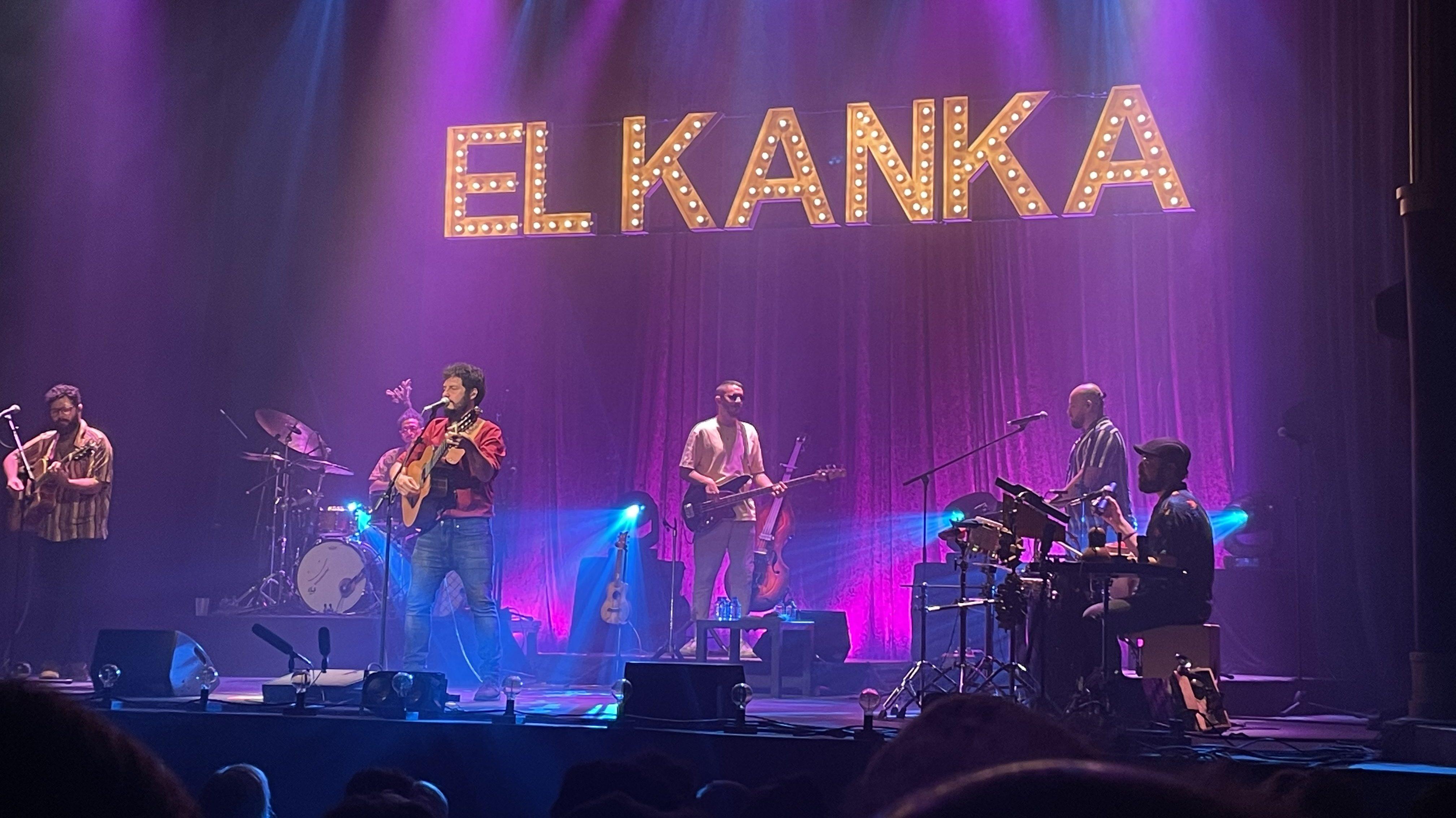 El Kanka en su concierto en el Teatro Rialto de Madrid.