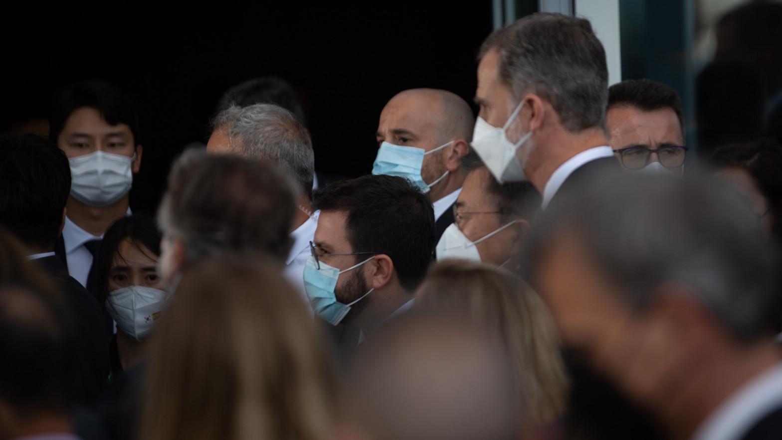 El presidente del Círculo de Economía desvela que Aragonès no quería saludar al Rey