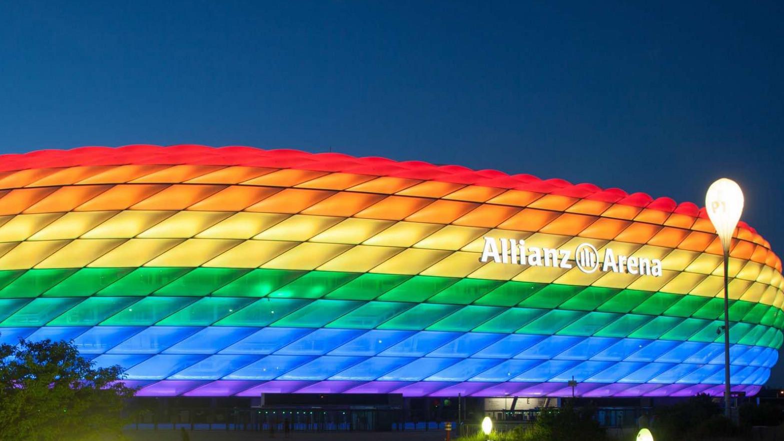 La UEFA prohíbe iluminar el estadio de Múnich con la bandera LGTBI en el Alemania-Hungría