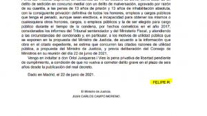 El rey Felipe VI estampa su firma en el BOE a los nueve indultados del 'procés'