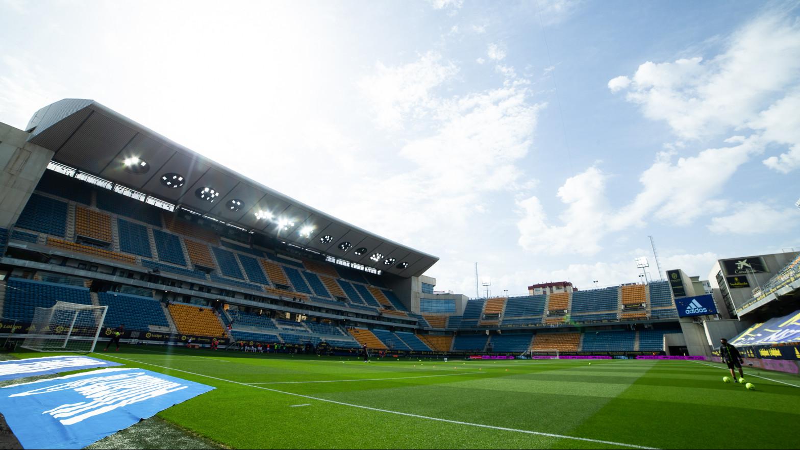 Estadio 'Nuevo Mirandilla' de Cádiz, anteriormente conocido como 'Ramón de Carranza'.