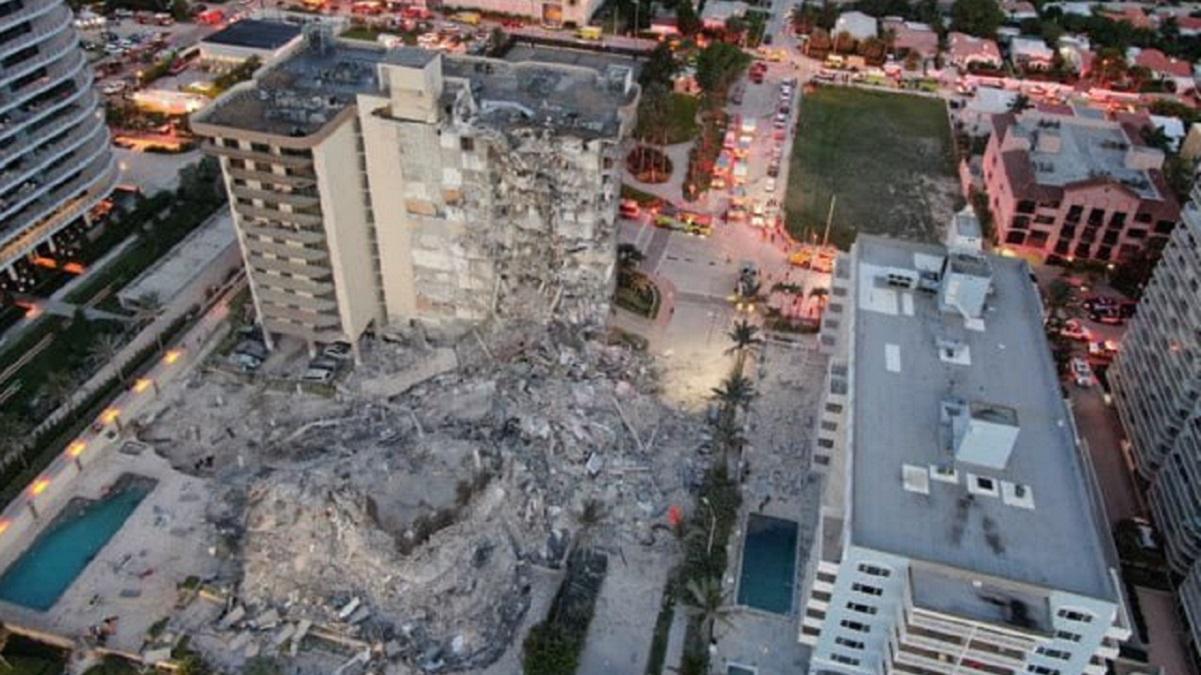 El derrumbe del edificio en Miami deja al menos cuatro muertos y 159 desaparecidos