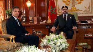 El presidente del Gobierno, Pedro Sánchez, visita al rey de Marruecos, Mohamed VI, en 2018.