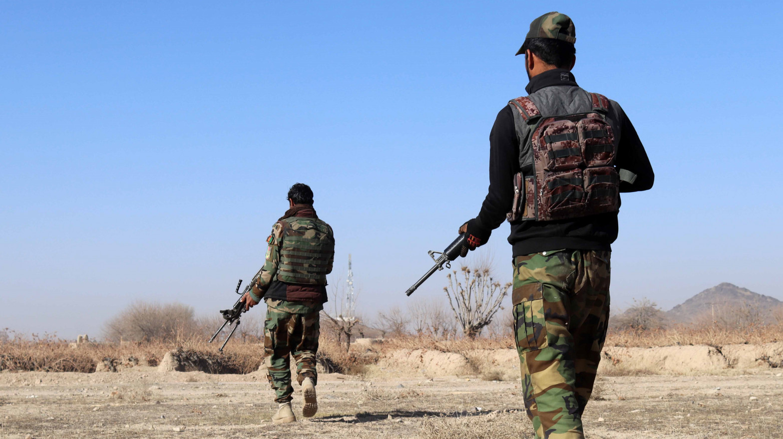 Militares afganos en una operación militar.