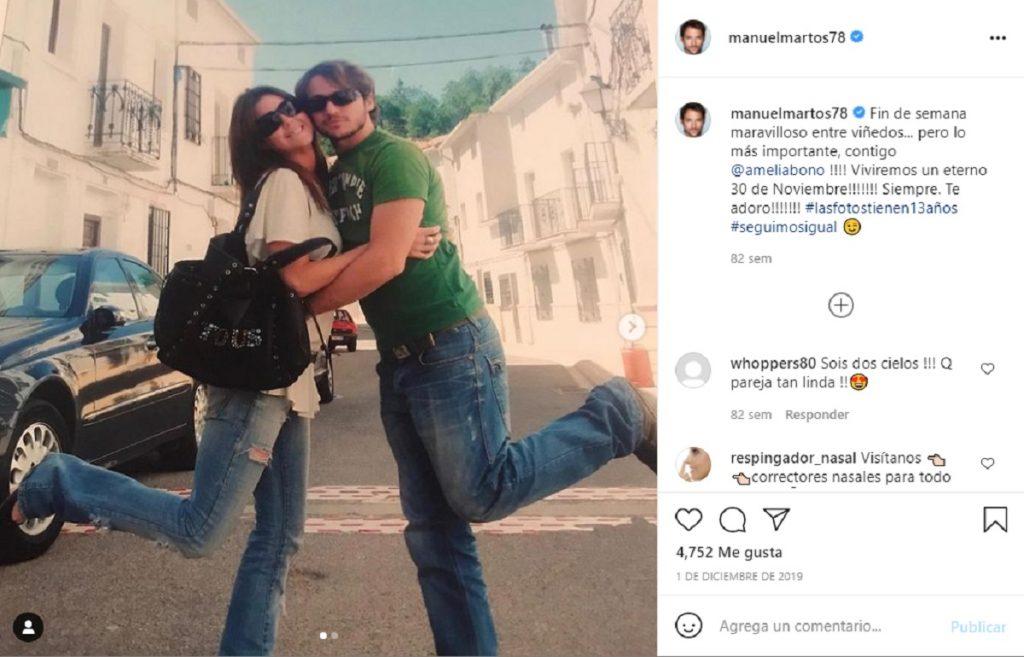 Amelia Bono y Manuel Martos llevaban 13 años juntos
