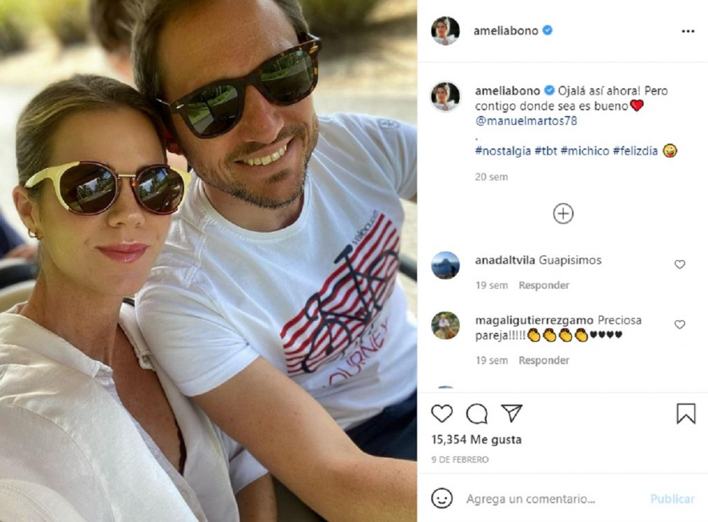 Amelia Bono y Manuel Martos siempre habían presumido de amor en las redes