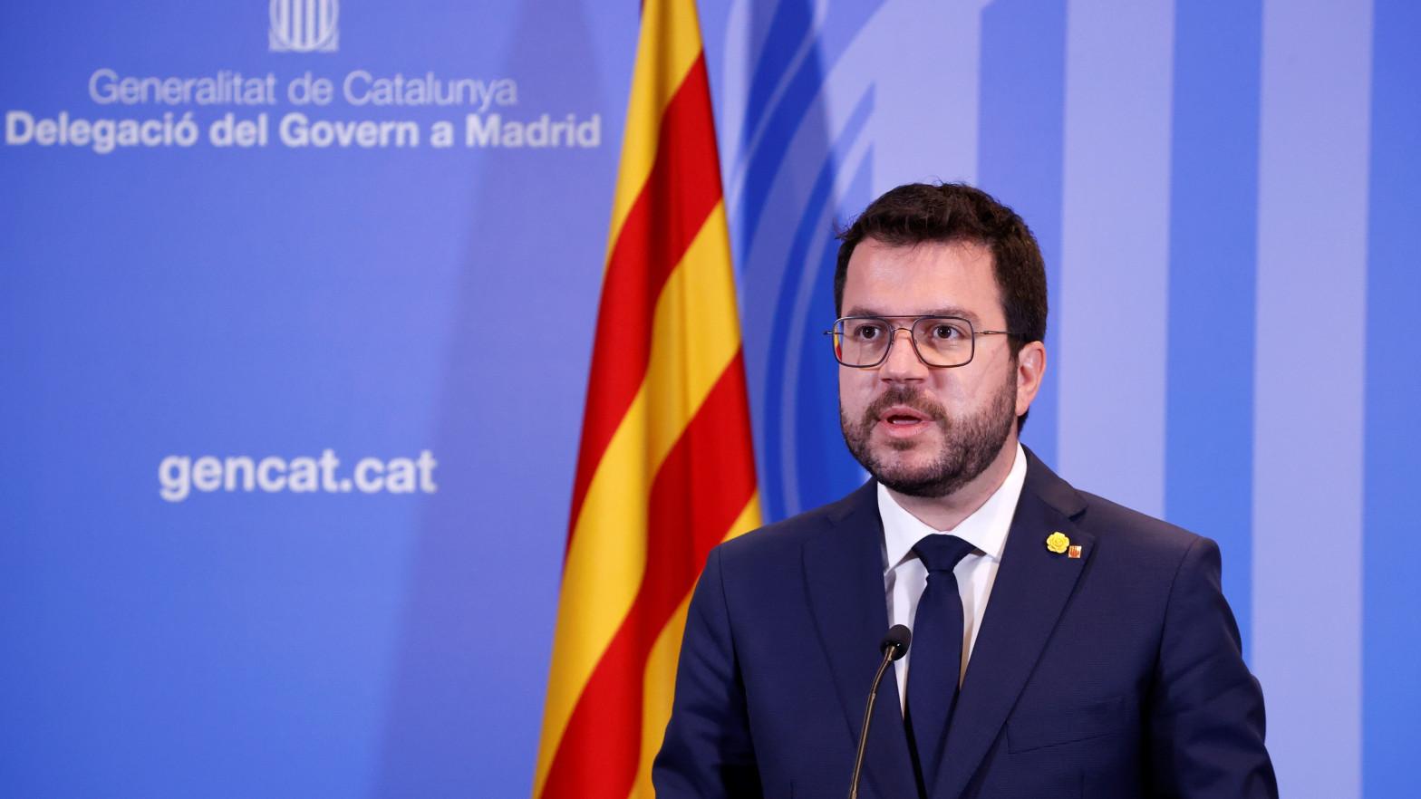 """Aragonès descarta ir """"a día de hoy"""" a la próxima conferencia de presidentes"""