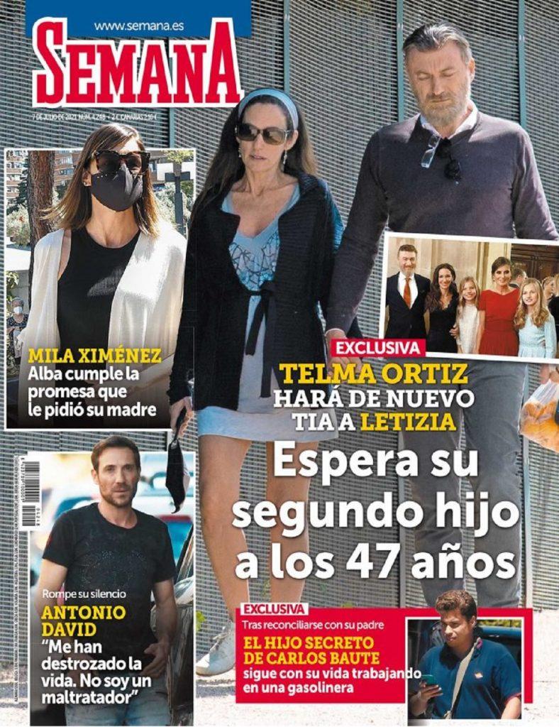 Telma Ortiz está embarazada de su segundo hijo