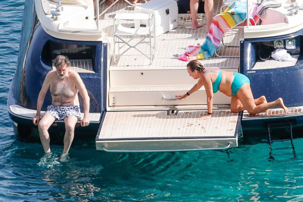 Mariano Rajoy y su mujer Elvira Fernández, en 2019 en Ibiza