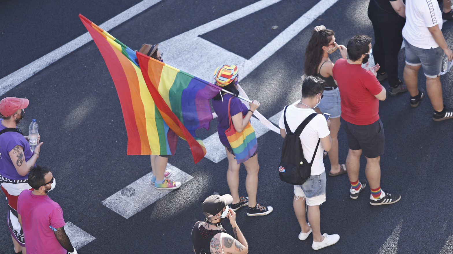 l día del Orgullo congrega a varias personas en las calles de Madrid