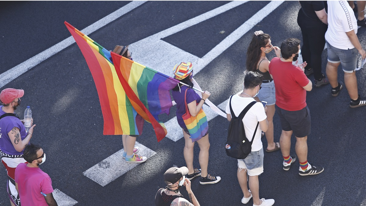 Madrid no desplegará finalmente una bandera arcoíris gigante en Gran Vía
