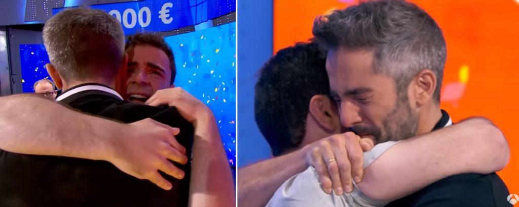 Roberto Leal se emociona y abraza a Pablo Díaz