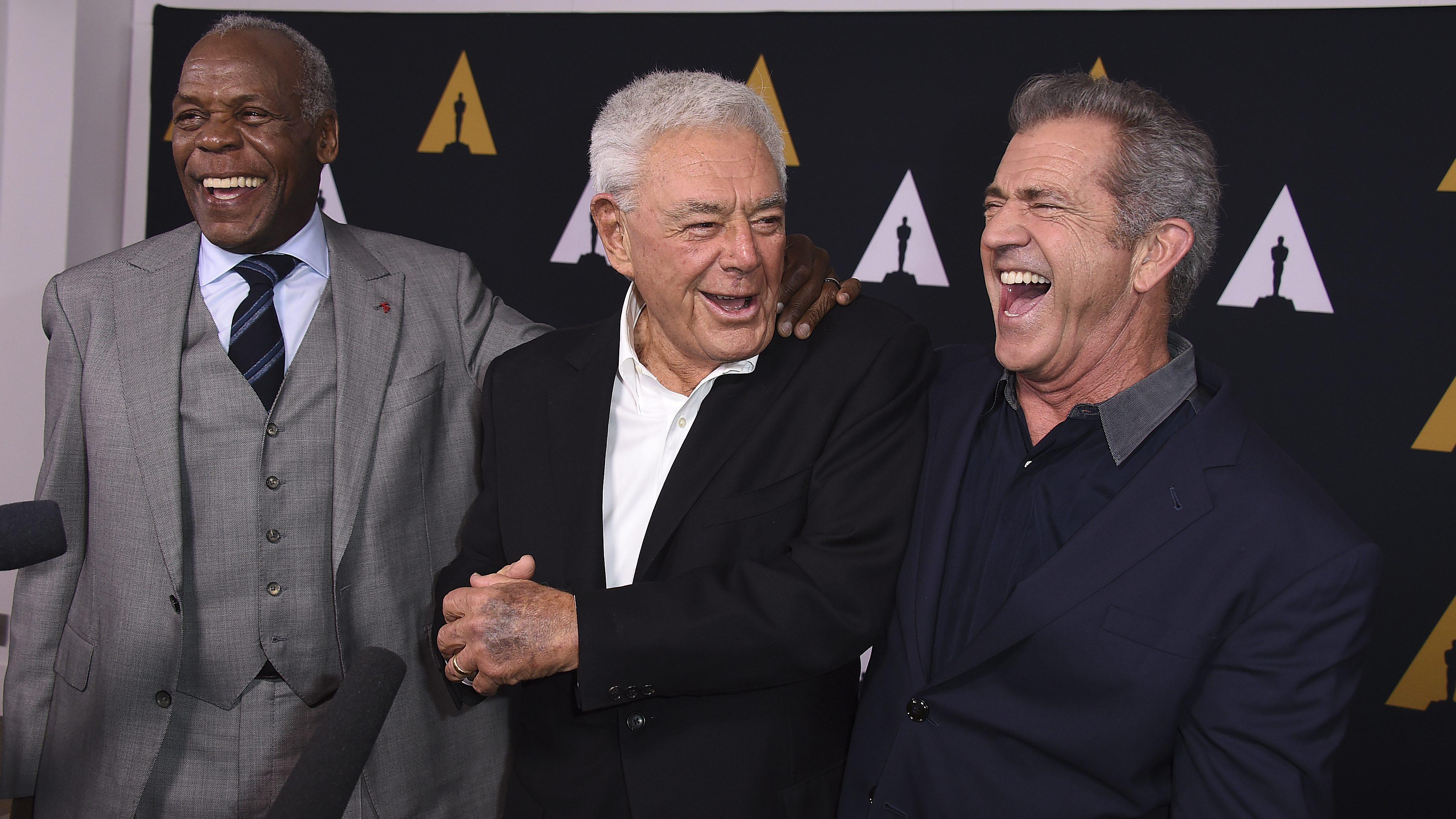 Danny Glover, Richard Donner y Mel Gibson. Gtres.